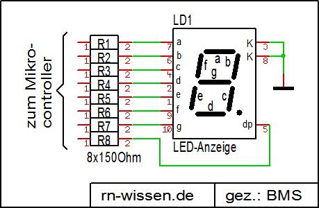Siebensegmentanzeige – RN-Wissen.de
