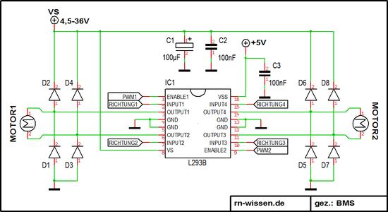 Getriebemotoren Ansteuerung – RN-Wissen.de